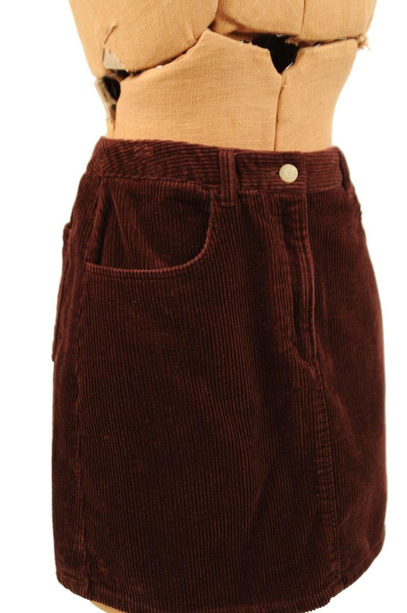 ad186d51aa Vintage 90s Esprit Dark Brown Cotton Corduroy Mini Micro | Etsy