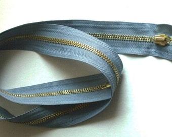 Light blue Separating zipper