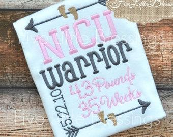 NICU - Warrior - Preemie - baby shower gift - newborn - baby girl - baby boy - NICU baby - hero - little fighter - tiny but mighty