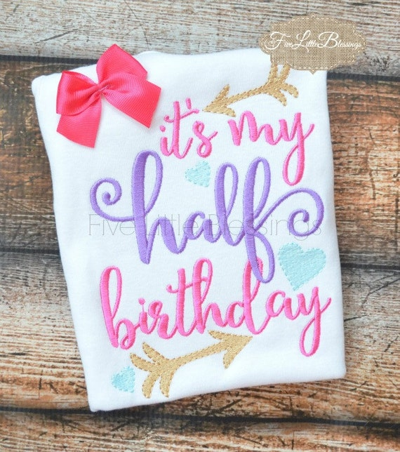Happy 6 Month Birthday Half Girl