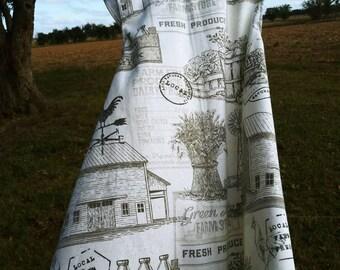 Cottage Kids crossback Apron ~   FARM FRESH-  Ready to Ship -