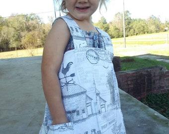 PreOrder _Connie crossback Apron - CHILD SIZE - Custom size