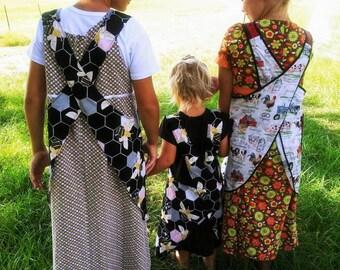 Pre_Order_ Cottage Kids Crossback APRON - Custom Size -