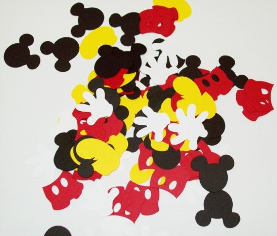 mickey mouse konfetti geburtstag table decoraitng etsy. Black Bedroom Furniture Sets. Home Design Ideas
