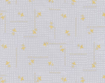 Wayside cotton metallic fabric by Karen Lewis for Robert Kaufman fabrics 186881