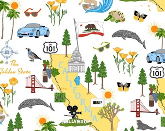 California state cotton fabric by Windham fabrics