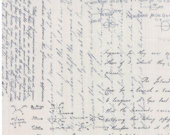Modern Background paper fabric script cotton fabric by Zen Chic for Moda fabric 1581 15
