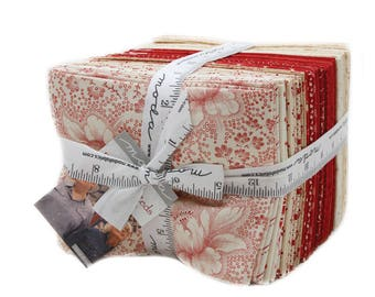 Farmhouse Reds cotton fat quarters by Minick and Simpson for Moda fabrics