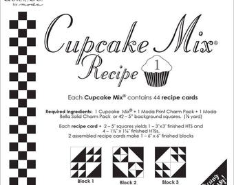 Cupcake recipe Mix 1 by Miss Rosie for Moda fabric