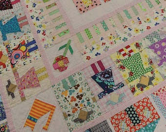 Girl next door quilt pattern by Louise Papas for Jen Kingswell designs co.
