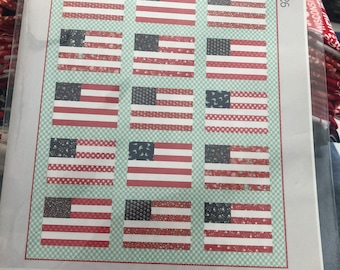 Stars and Stripes quilt kit by Camille Roskelley for Thimble Blossoms