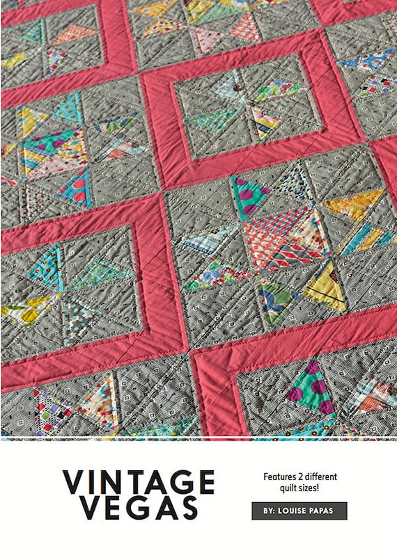 New Pattern VINTAGE VEGAS By Jen Kingwell Quilt Pattern For 2 Sizes 42 x 42 /& 72 x 72