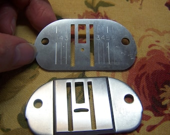 Vintage Singer Touch & Sew Throat Plates for Sewing Machines Part # 171137 and # 171138