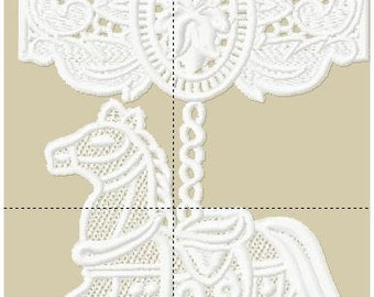 Lace Horse with Carousel