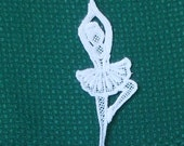 Lace Applique for Crafts or Crazy Quilt - Tiny Dancer Ballerina