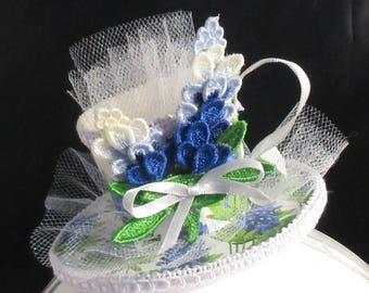 Blaue Mütze Fascinator