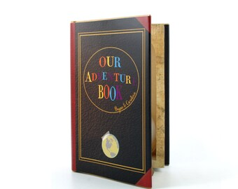 Engagement Ring Book Safe - Our Adventure Book - Custom Proposal Ring Marriage Hollow Book