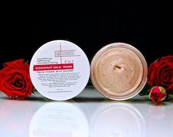 Coconut Milk Rose Cream Face Mask and Polish