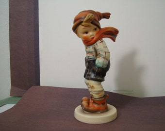 """HUMMEL- MARCH WINDS , This is hummel #43 in perfect condition,  5"""" tall , Mark # 7( in modern terminology),"""