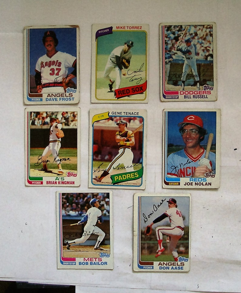 All are Topps brand 1980 /& 82 Cards These 11 MAJOR League Baseball cards G or better cond see description