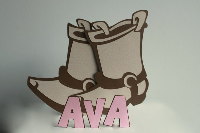 Cowgirl Boots Cake Topper Cowgirl Birthday Cowgirl Party