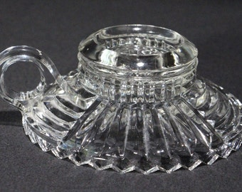 Vintage Single Light Candle Holder with Handle