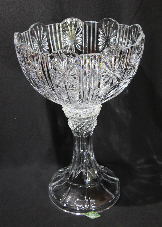Vintage Shannon Crystal Designs Of Ireland 14 Inch Tall Etsy