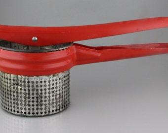 Vintage Red Handled Potato Ricer