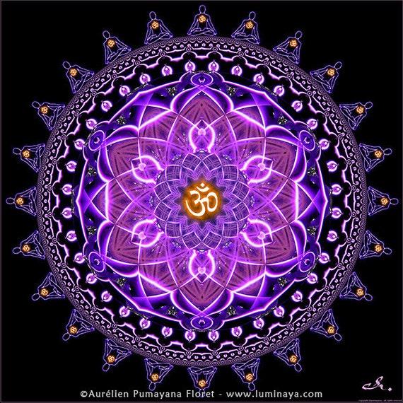 tapiz Sangha sanación de Mandala mándala bandera Om Etsy Aum 5X4qqWOw