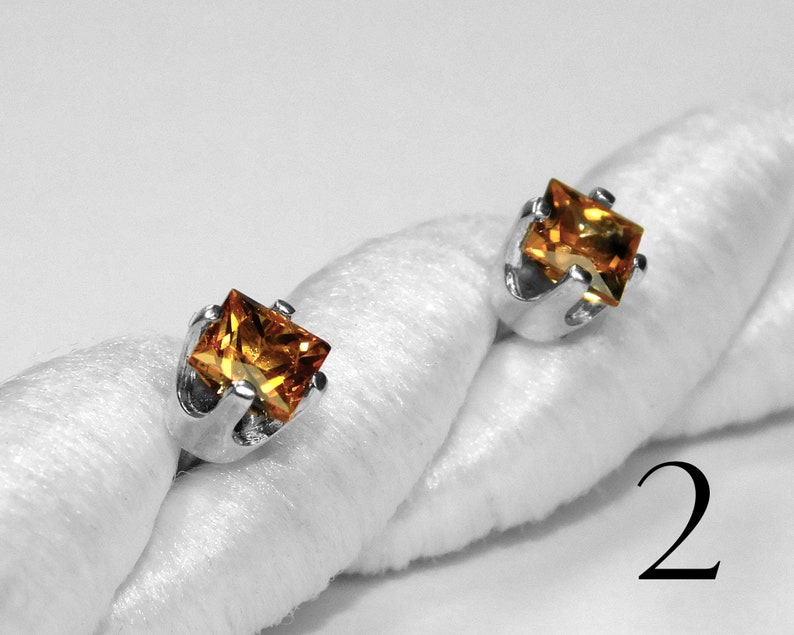 Anniversary Earth Mined Sterling Silver or Gold Choice of Colors Montana Sapphire Studs Natural September Birthstone