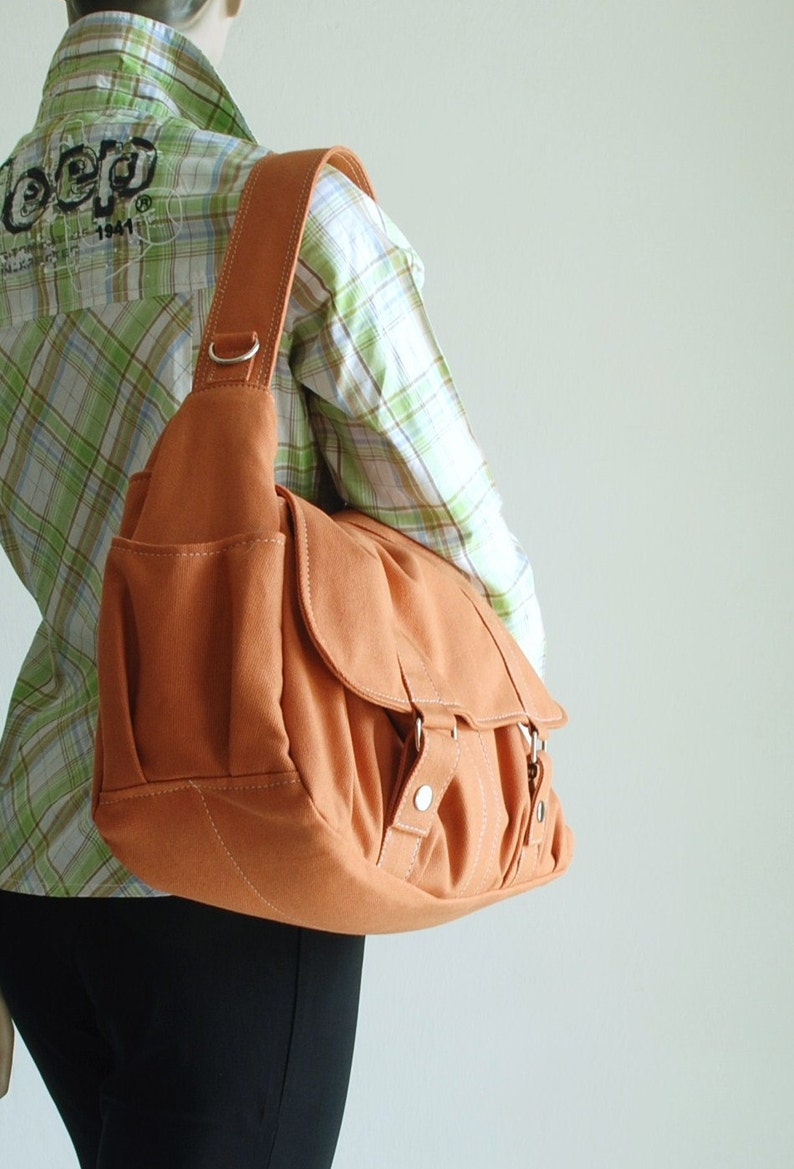 Pumpkin Messenger Bag School Bag Shoulder Bag Diaper Bag  ab32734c528b7