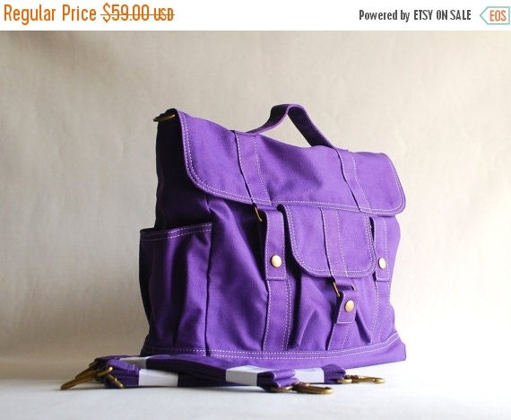 Cyber Monday sale 25% BackPack Purple Convertible  78b0d6ed23bfd