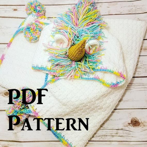 Hooded CROCHET UNICORN Blanket Pattern Pdf Download Pattern | Etsy
