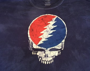 93ff97128d95 Grateful Dead Steal Your Face Batik Tshirt