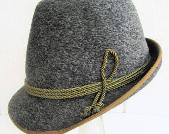 03e4ac12b21d04 Adalbert Breiter Mens Fedora Hat Mohair Felt German Oktoberfest Tyrolean  Bavarian