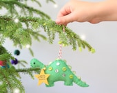 Personalised Dinosaur Christmas Tree Ornament - FREE DELIVERY