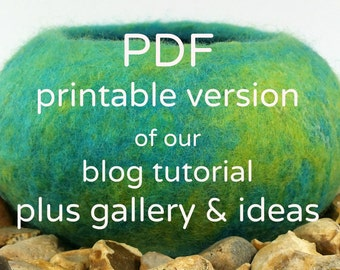 How to make a wet felt pod - Tutorial - Instant Download