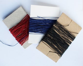 Coloured bookbinding thread, excellent quality  for professional quality leather work and leather craft or handmade sketchbooks