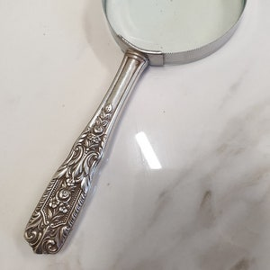 1920/'s American Sterling Silver handle Magnifying Glass.