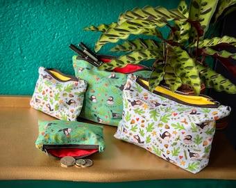 Seaside Puffins - Bags & Purse - Tote Bag/ Pencil Case/ Make-up Bag/ Purse