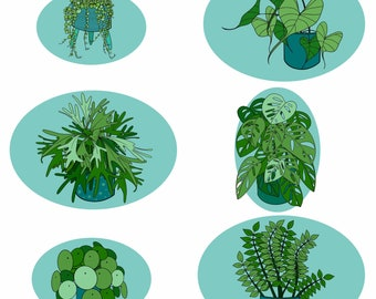 Plant Print Collection: Plant Lover collection - A5