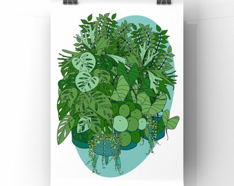 Print: Indoor Jungle A4