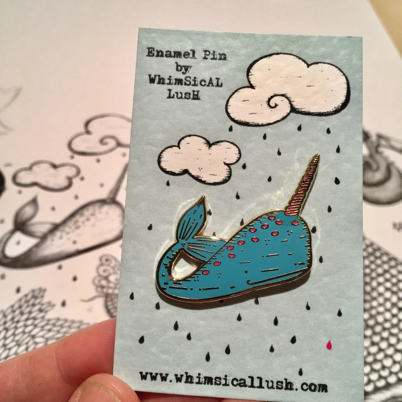 Narwhal Enamel Pin by WhimSicAL LusH: Limited Edition image 0