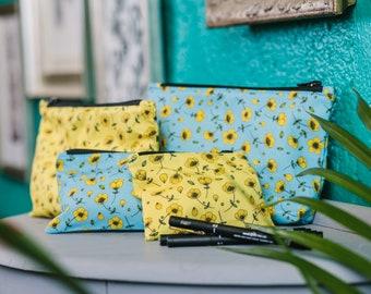 Buttercups - Bags & Purse - Tote Bag/ Pencil Case/ Make-up Bag/ Purse