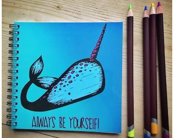 Noa the Narwhal Notebook/ Sketchbook