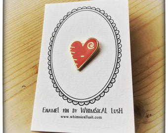 Love Heart Enamel Pin by WhimSicAL LusH - Limited Edition - Maggie's Penguin Parade - Fundraising for Maggie's Dundee