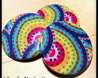 Rainbow Pocket Mirror/ Compact Mirror