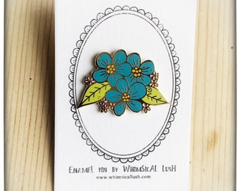 Fleur's Flowers Coloured Enamel Pin by WhimSicAL LusH - Limited Edition - Maggie's Penguin Parade - Fundraising for Maggie's Dundee