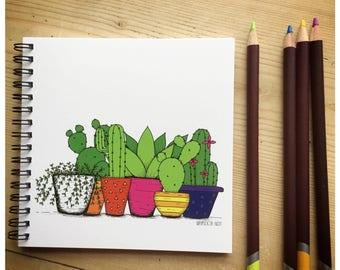 Cactus Garden Notebook/ Sketchbook