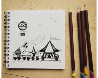 The Circus Train Notebook/ Sketchbook